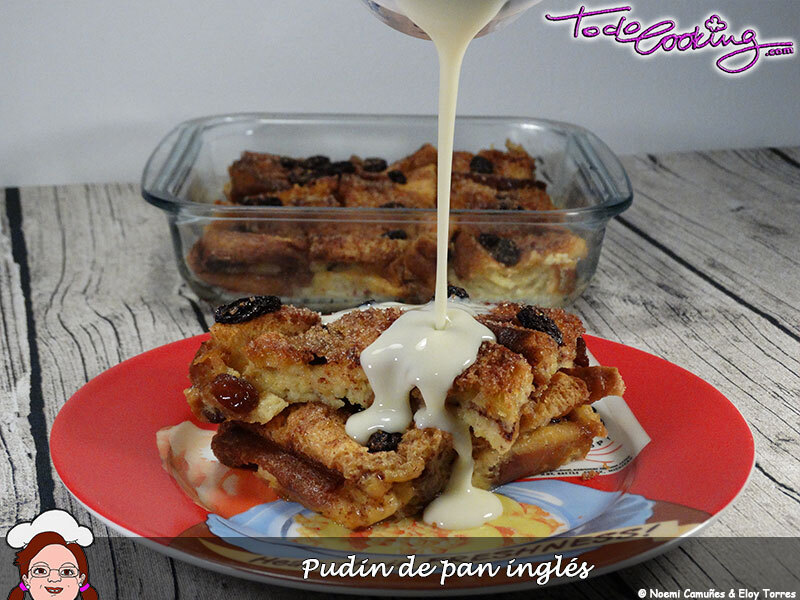 Pudin de pan inglés o English Bread and Butter Pudding