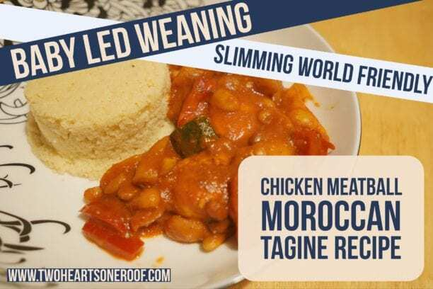 Baby Led Weaning and Slimming World Chicken Meatball Moroccan Tagine