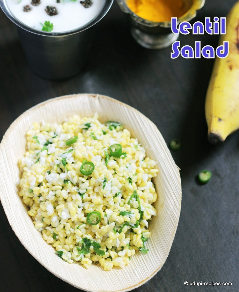 Moong Dal Salad | Hesaru Bele Kosambari Recipe for Rama Navami