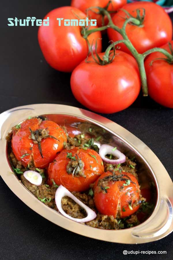 Simple stuffed tomato recipe | Chapati side dish