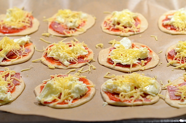 mini pizza maken