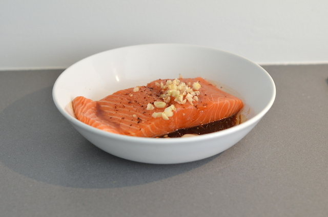 Oosterse salade met zalm