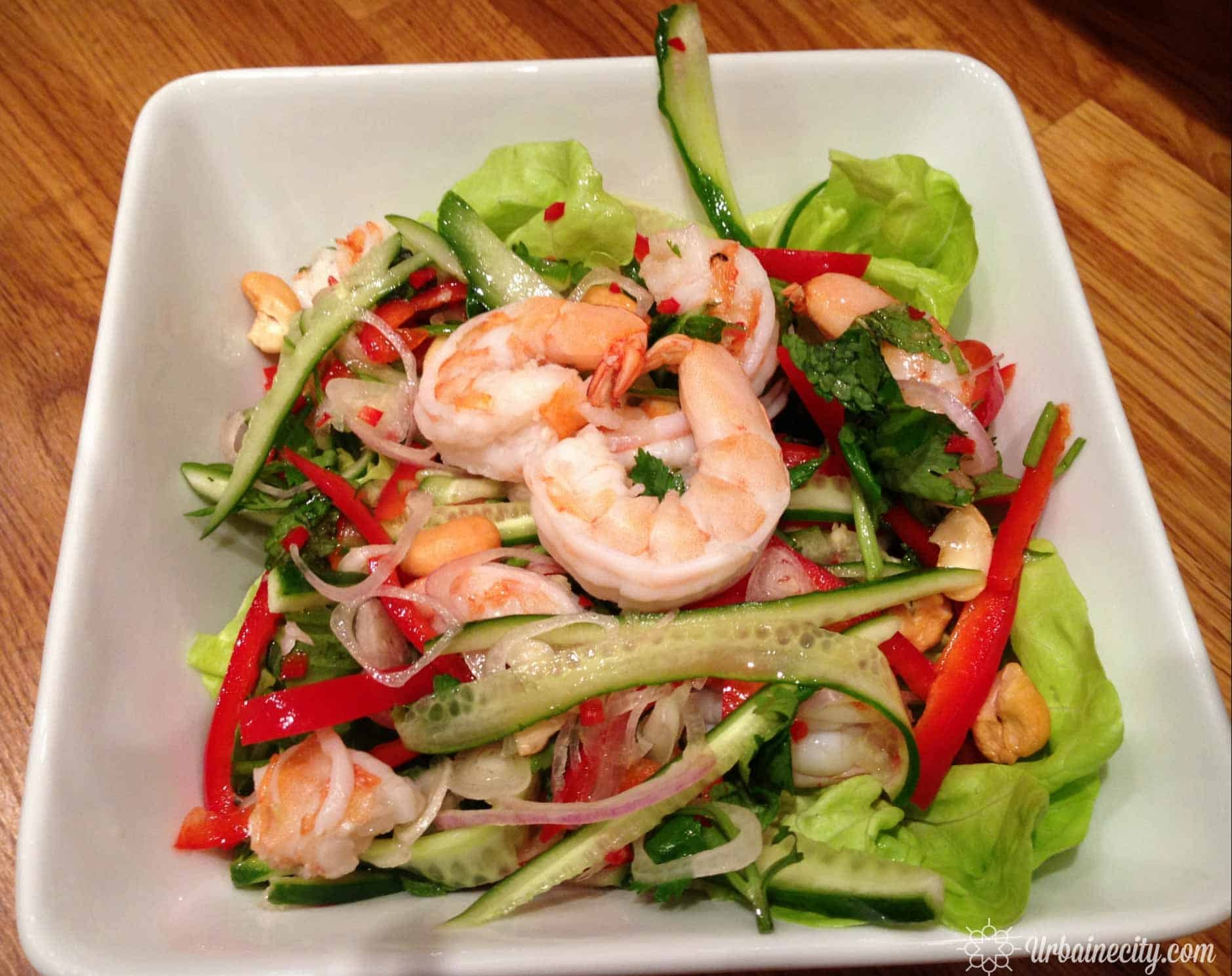 Salade asiatique aux fruits de mer
