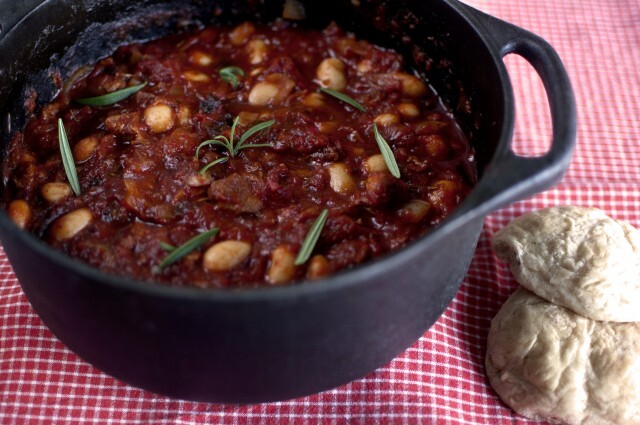 Chili con carne med bacon och plommon
