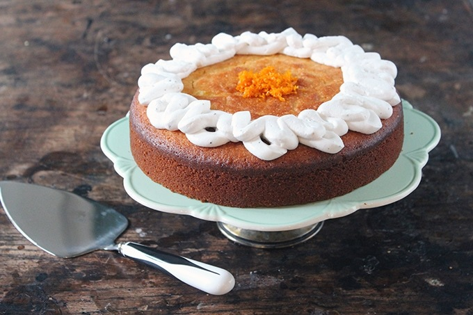 Almond and Orange PAN Corn Flour Cake (Gluten-Free)