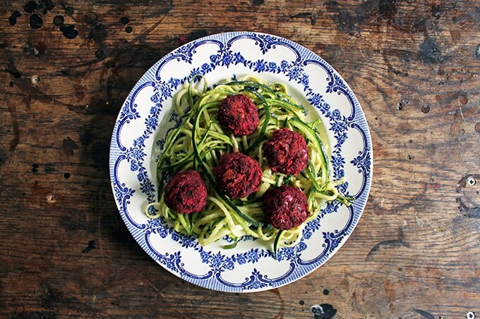 Recipe: Courgetti and Beet Balls