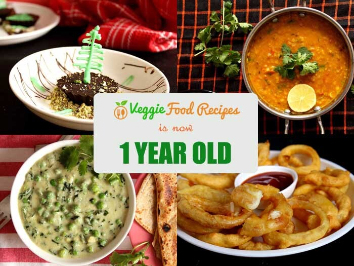 Veggie Food Recipes Turns One!