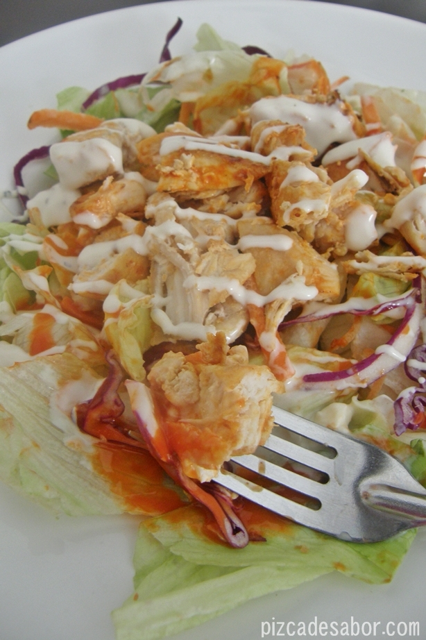 Ensalada pollo buffalo {versión ligera o light}