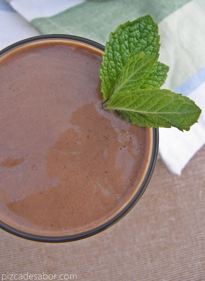 Smoothie menta con chocolate