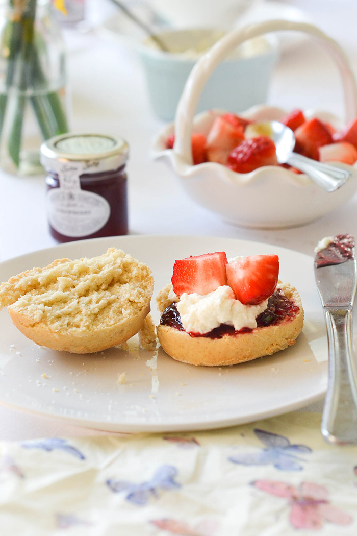 Vegan Scones with Clotted Cream