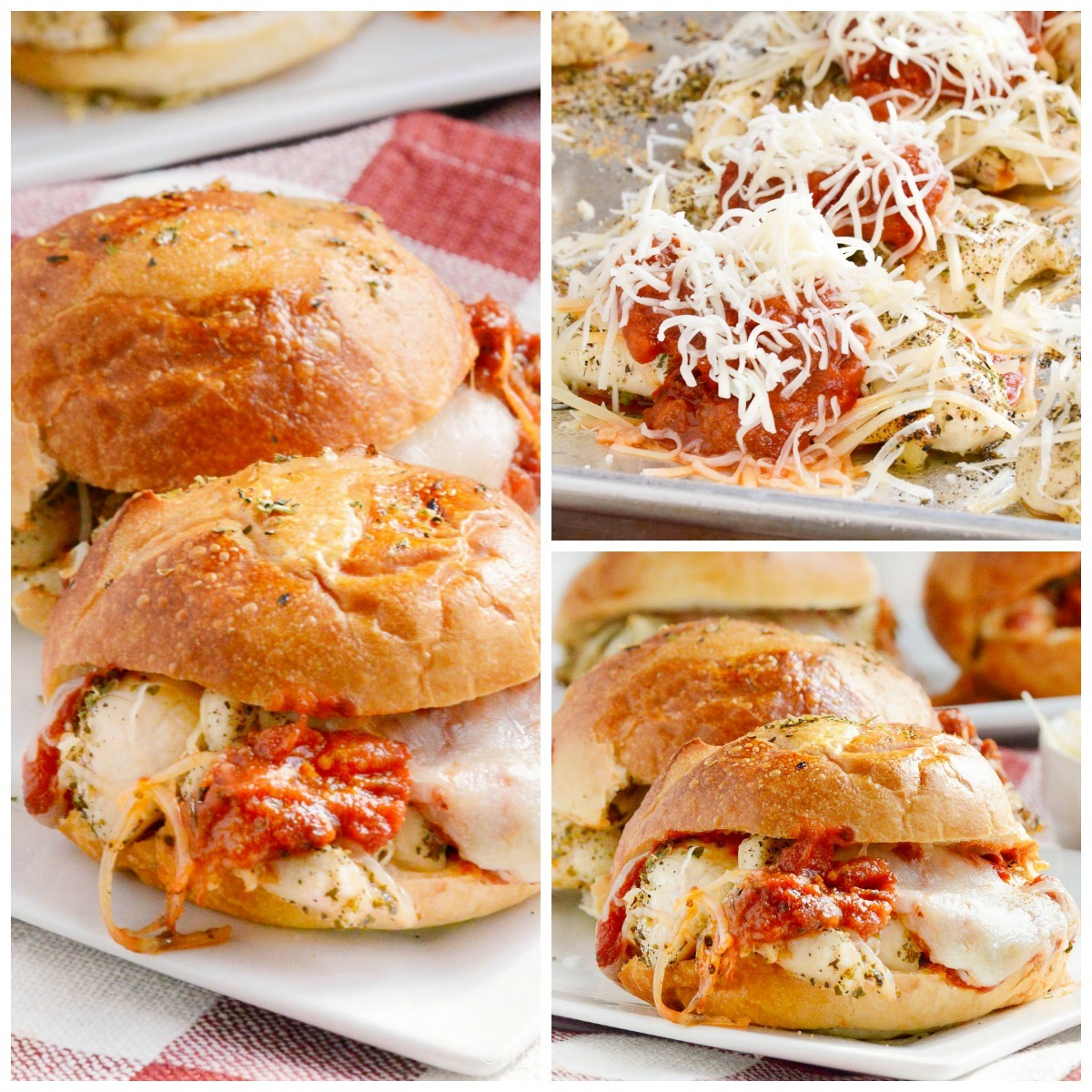 Cheesy Italian Chicken Sliders
