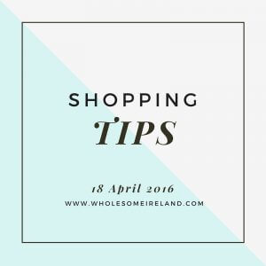 18 April 2016 – Shopping Tips