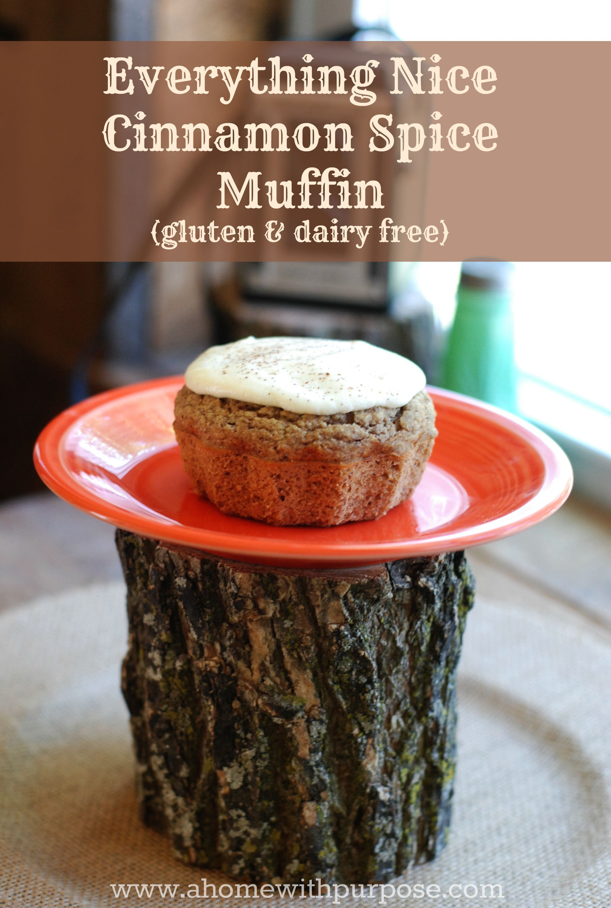 Everything Nice Cinnamon Spice Muffin (gluten, dairy and sugar free)