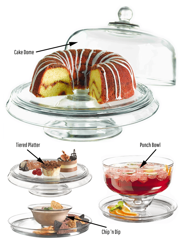 Win a 4-in-1 Glassware Cake Stand and Dome Set worth £50