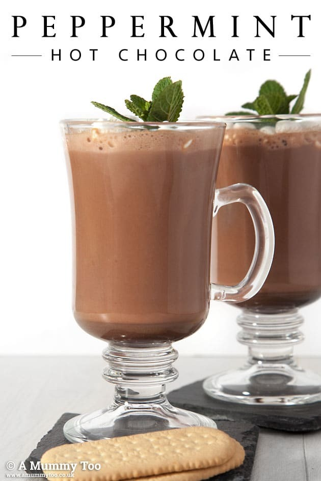 Peppermint hot chocolate (recipe)