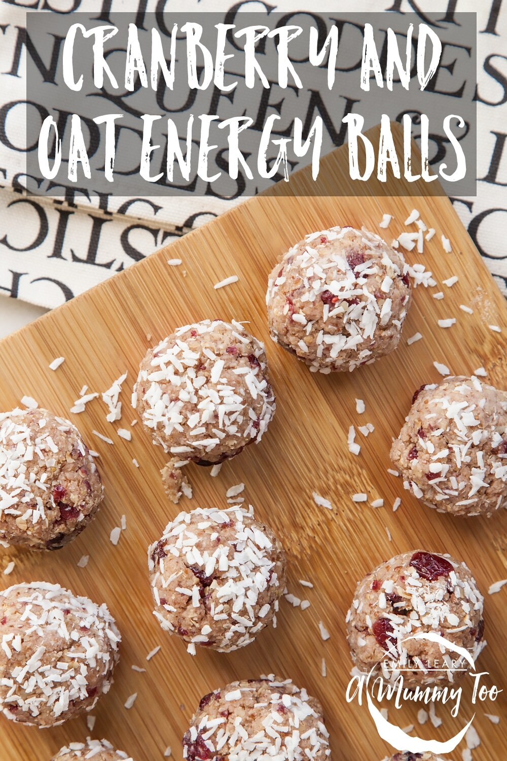 Cranberry and oat energy balls (raw, vegan)
