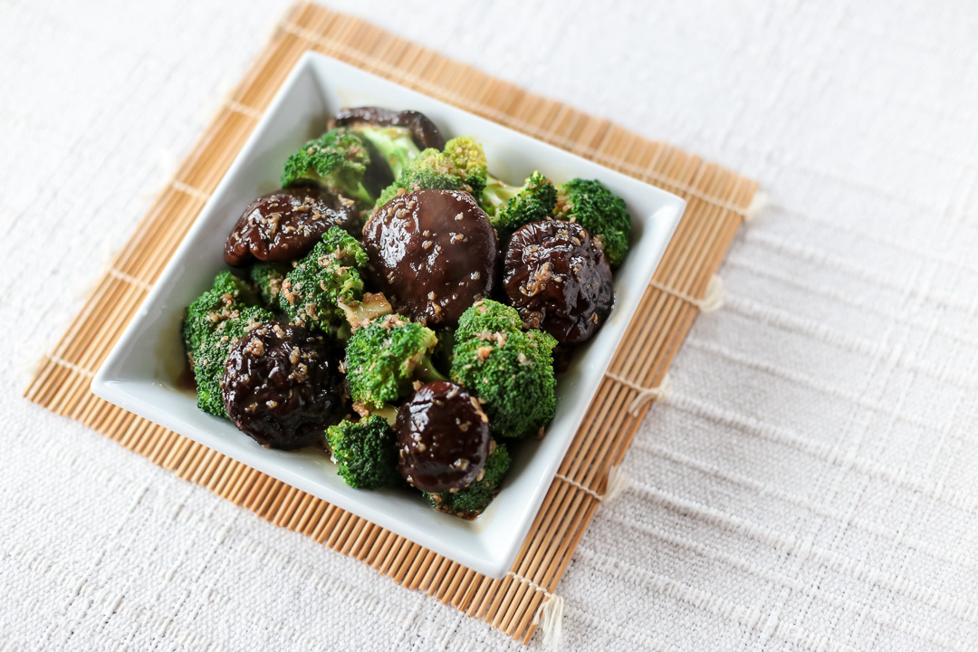 Broccoli and Shiitake in Oyster Garlic Sauce