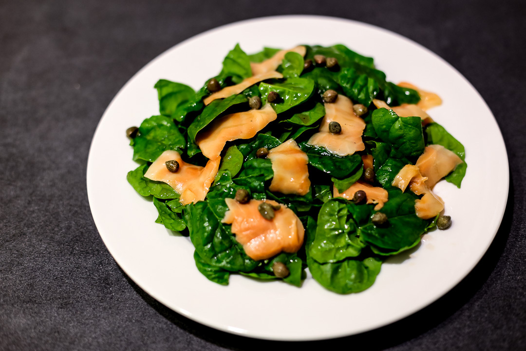 Smoked Salmon and Spinach Salad
