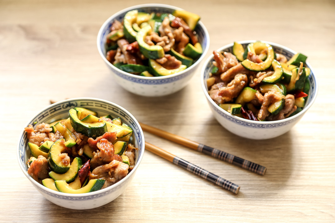 Stir Fried Pork and Courgettes