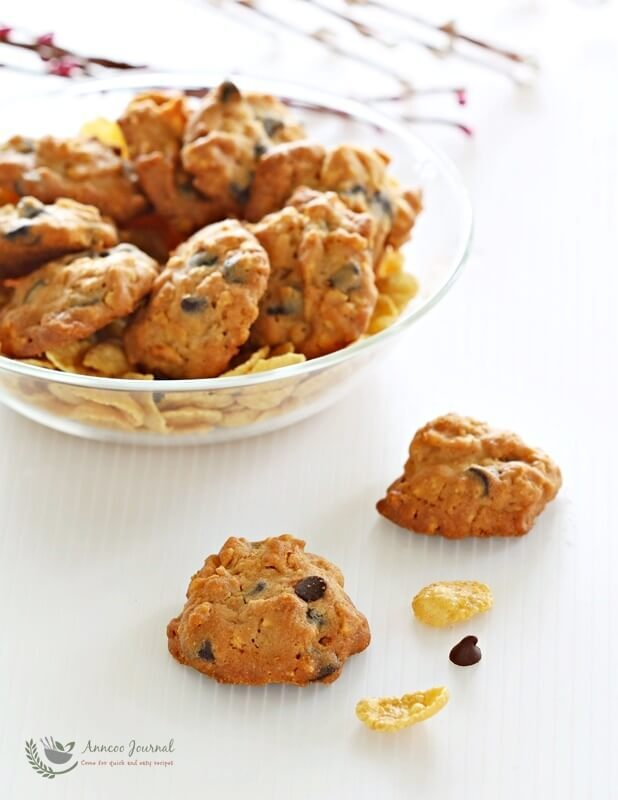 Cornflake Chocolate Chip Cookies 玉米片巧克力粒曲奇