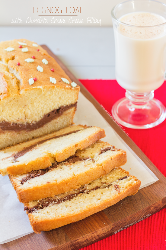 Eggnog Loaf with Chocolate Cream Cheese Filling