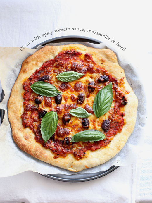 Pizza Margherita (and a great pizza base recipe)