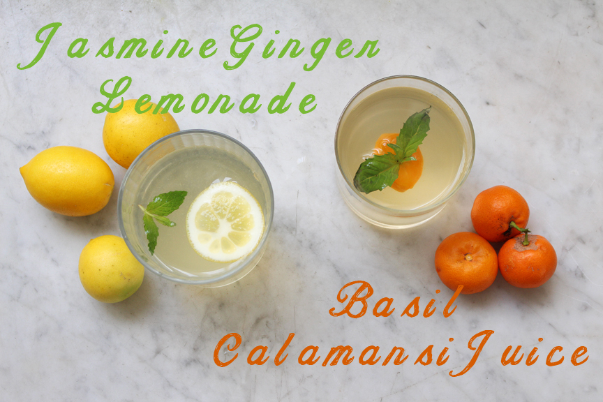 Jasmine Ginger Lemonade & Calamansi Juice with Basil
