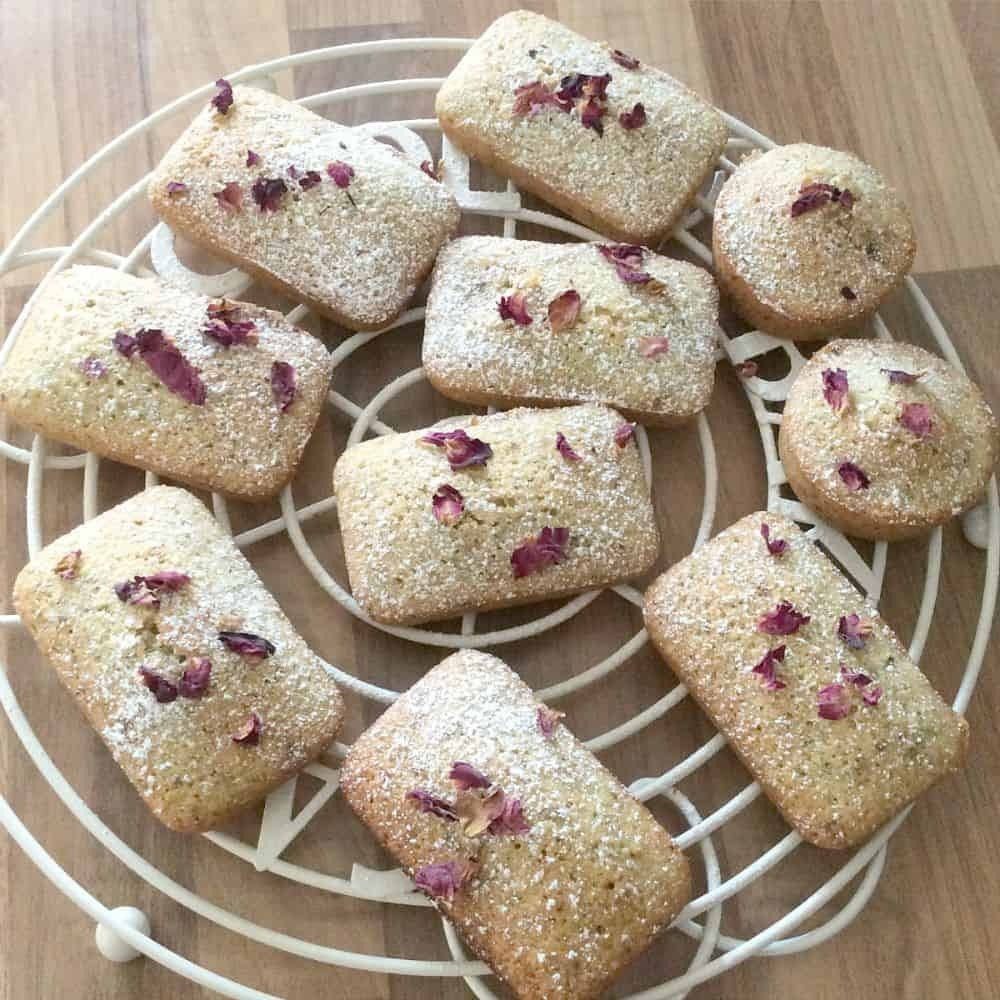 Pistachio, Cardamom and Rose Financiers