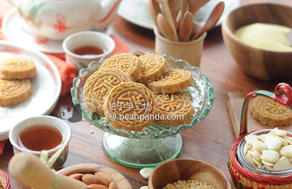 5 Ingredients Chinese Almond Biscuits ~ Coconut Flavour