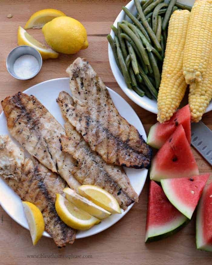Perfect and Simple Grilled Fish Fillets