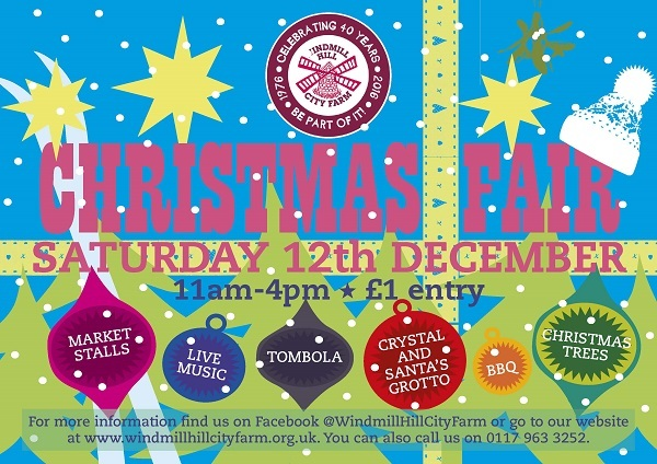 Windmill Hill City Farm Christmas Fair: Saturday, December 12th