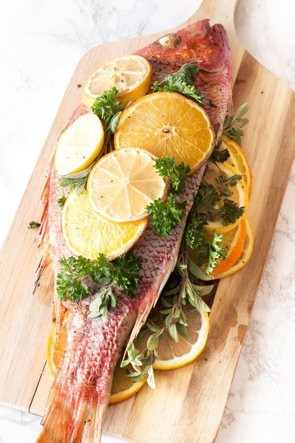 Roasted Citrus & Herb Red Snapper