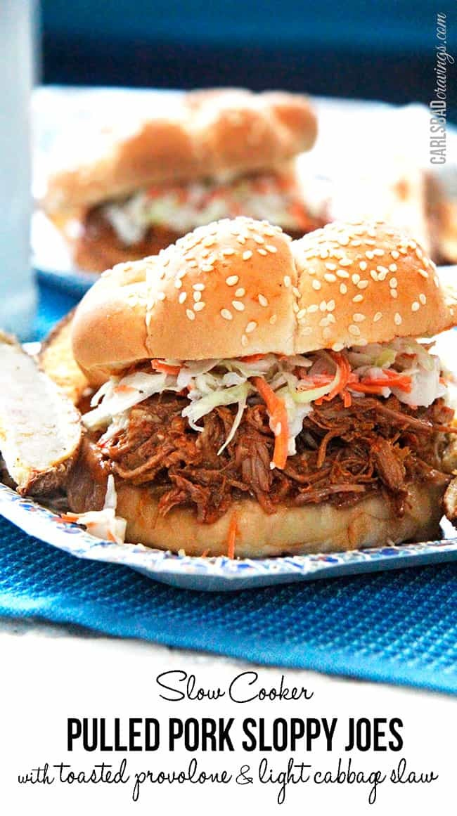 Slow Cooker Pulled Pork Sloppy Joes