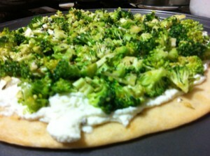 Recipe: Broccoli, Ricotta and Lavender topping for Pizza