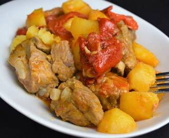 Recetas de como preparar cazuela de cerdo - Patatas con costillas de cerdo ...
