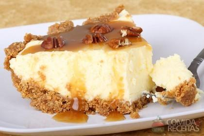 Receita de Cheesecake crocante