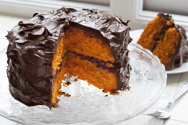Hidden Dark Chocolate & Orange Cake Recipe