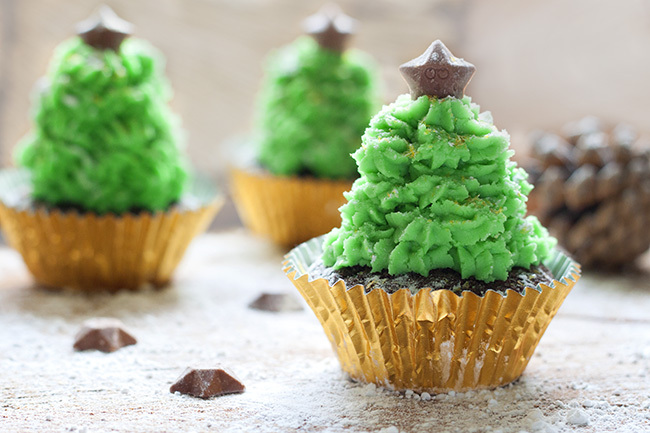 Chocolate Christmas Tree Cupcake Recipe