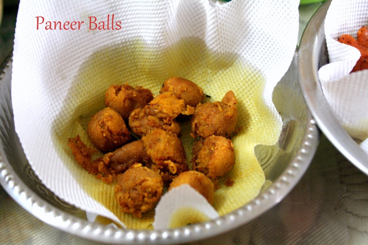 Paneer Balls | How to make Paneer Balls ~ Snacks for Party