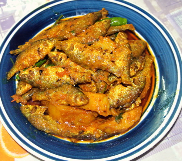 Dry Dish Of Punti Fish/Punti Macher Jhal