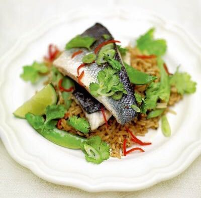 SEA BASS ON THAI RICE