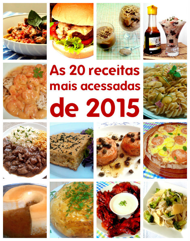 Top 20: as receitas mais acessadas de 2015
