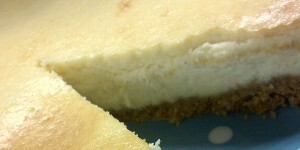 A Baked Cheesecake Using Homemade Cream Cheese
