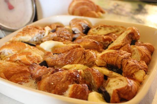 Easy Peasy Chocolate & Banana Croissant Bread & Butter Pudding!