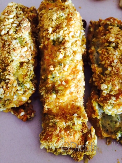 Broccoli fish fingers: get that veg in.