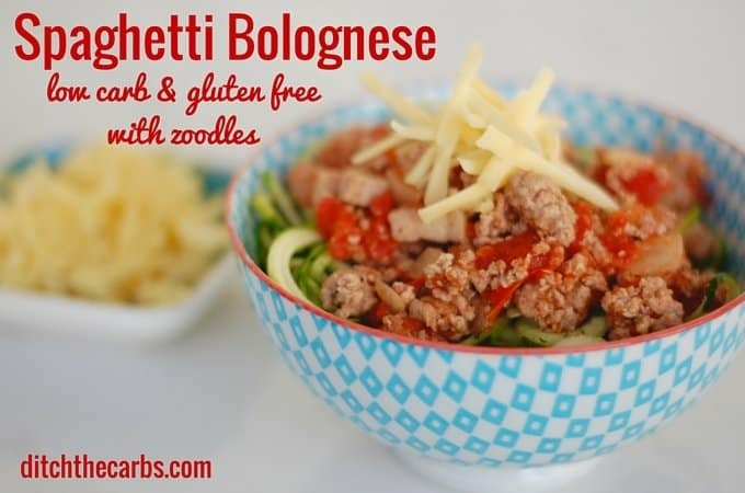 Low Carb Spaghetti Bolognese