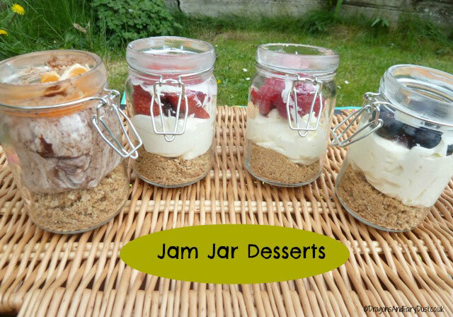 Jam Jar Cheesecakes