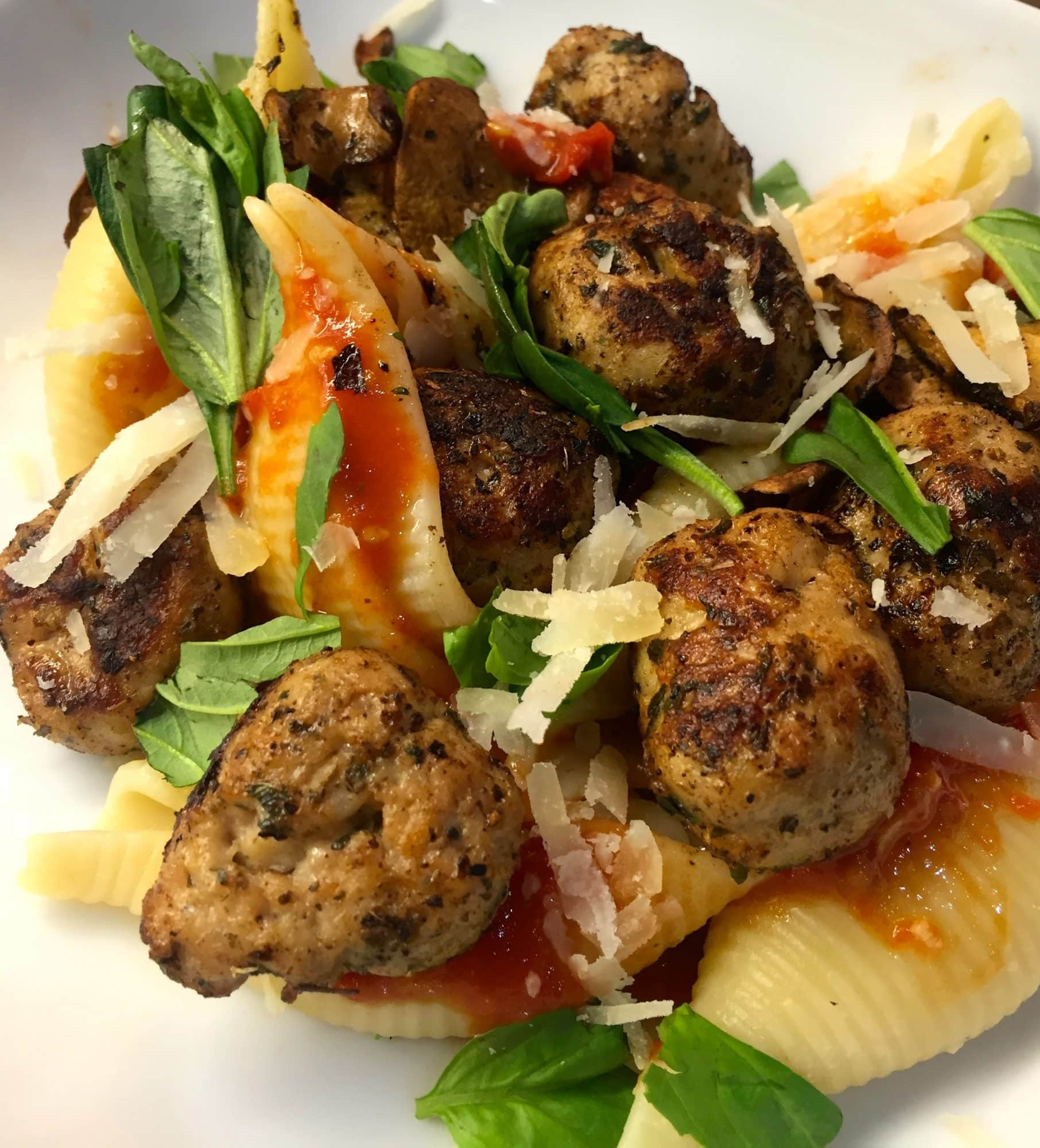 Herby Chicken Italia Meatballs … A Heck of a Dish!