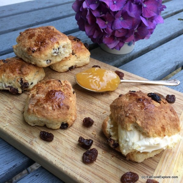 Lemon and Clotted Cream Scones