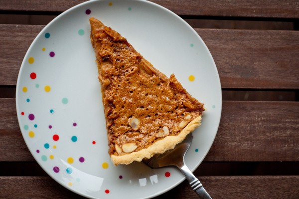 French Fridays with Dorie: Caramel-Almond Custard Tart